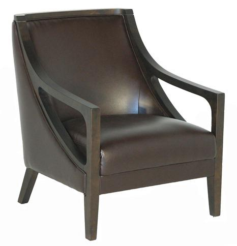 BFW Lifestyle A-738 Accent Chair with Exposed Wood - Item Number: A-738-DU077