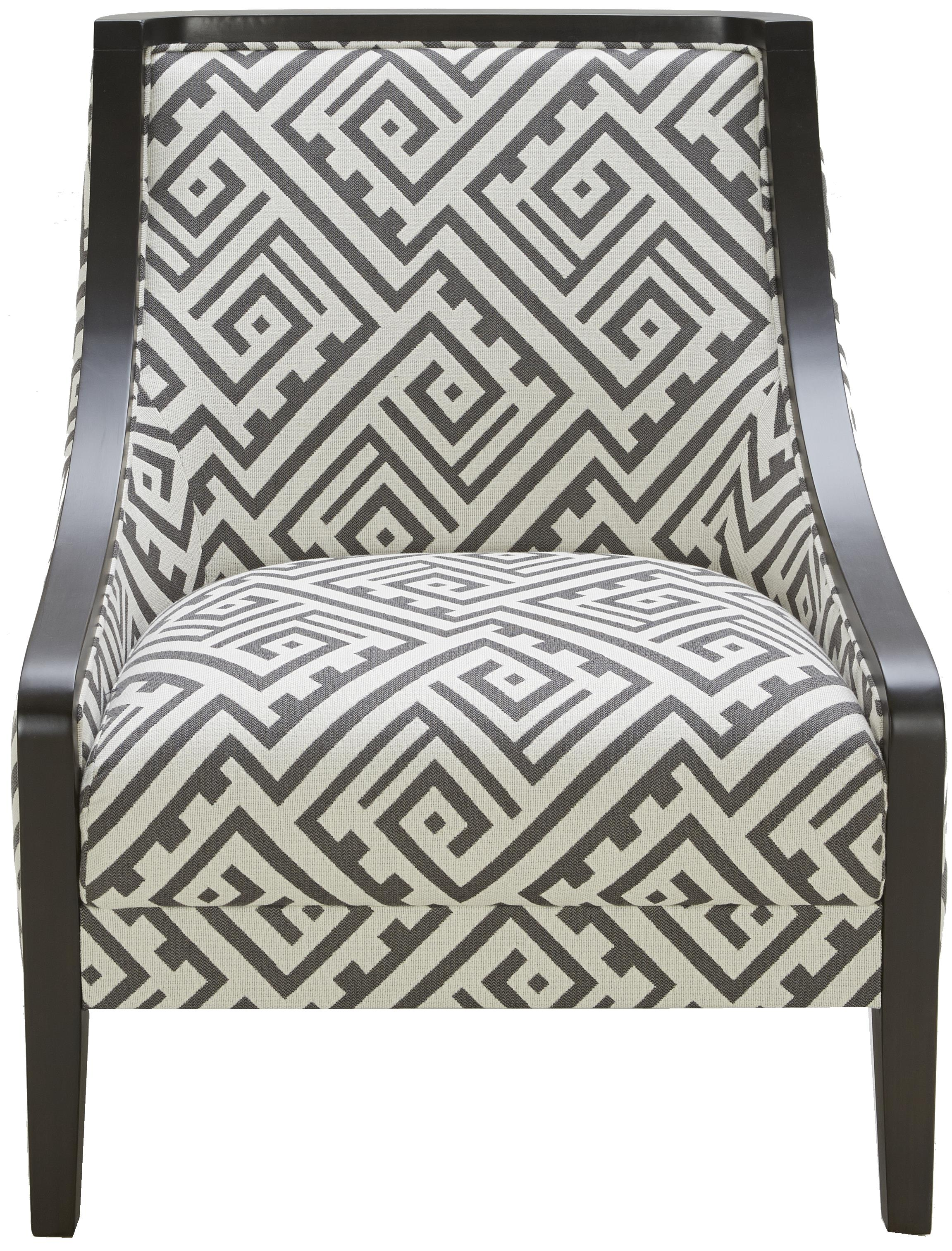 Urban Evolution Wood Trim Traditional Accent Chair - Item Number: A825-E105