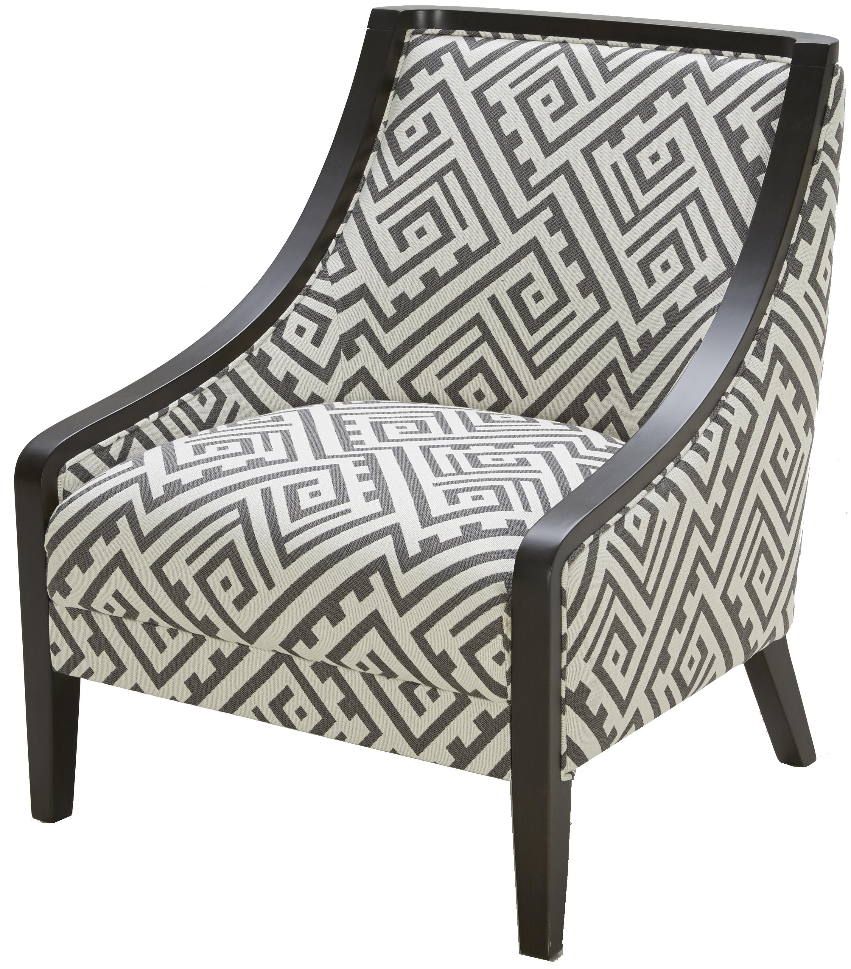 Kuka Home A 825 Traditional Accent Chair With Exposed Wood