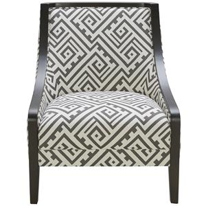 Urban Evolution Wood Trim Traditional Accent Chair