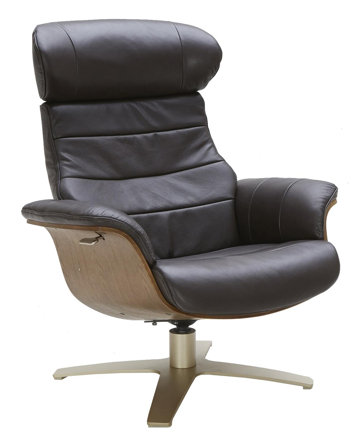 Urban Evolution Karma Leather Lean-Back Swivel Chair - Item Number: A928-1-2a-S