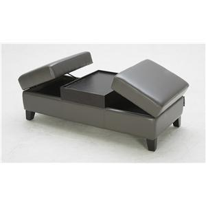 BFW Lifestyle Accent Ottomans Contemporary Cocktail Ottoman