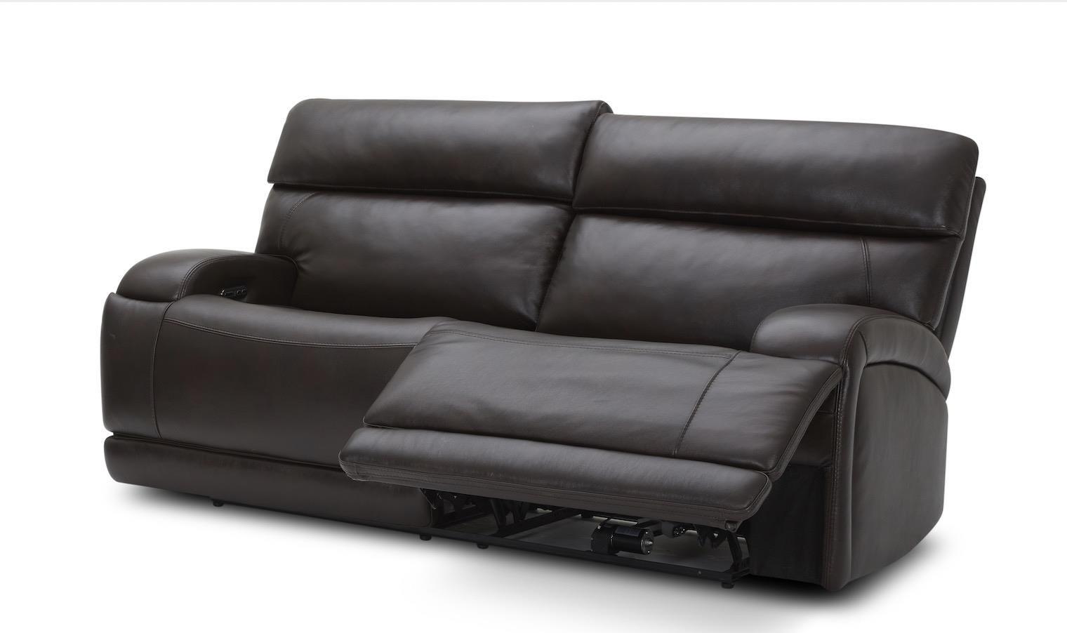 TRIPLE Power Reclining Leather Sofa
