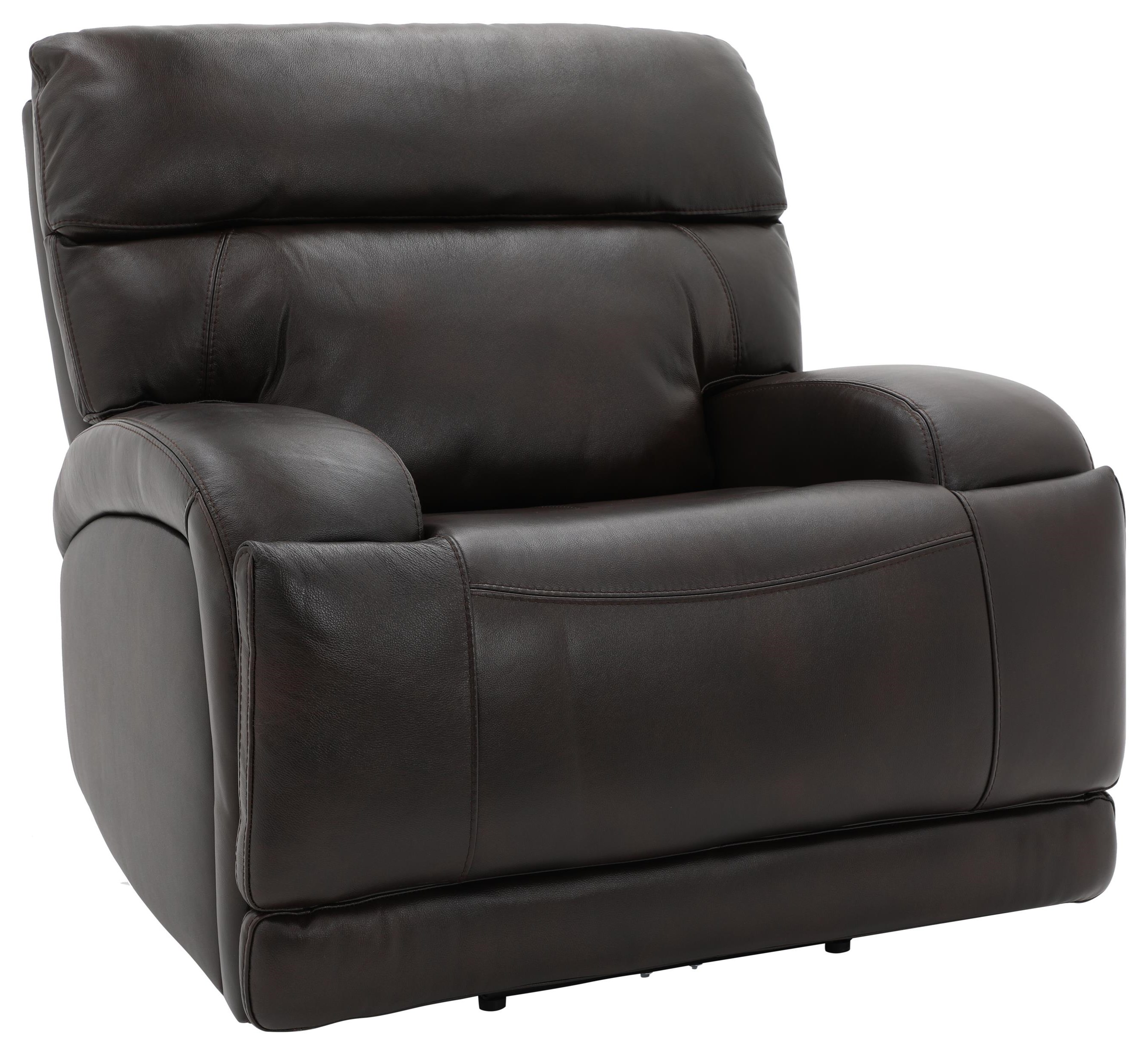 Akron TRIPLE Power Leather Recliner by K.C. at Walker's Furniture