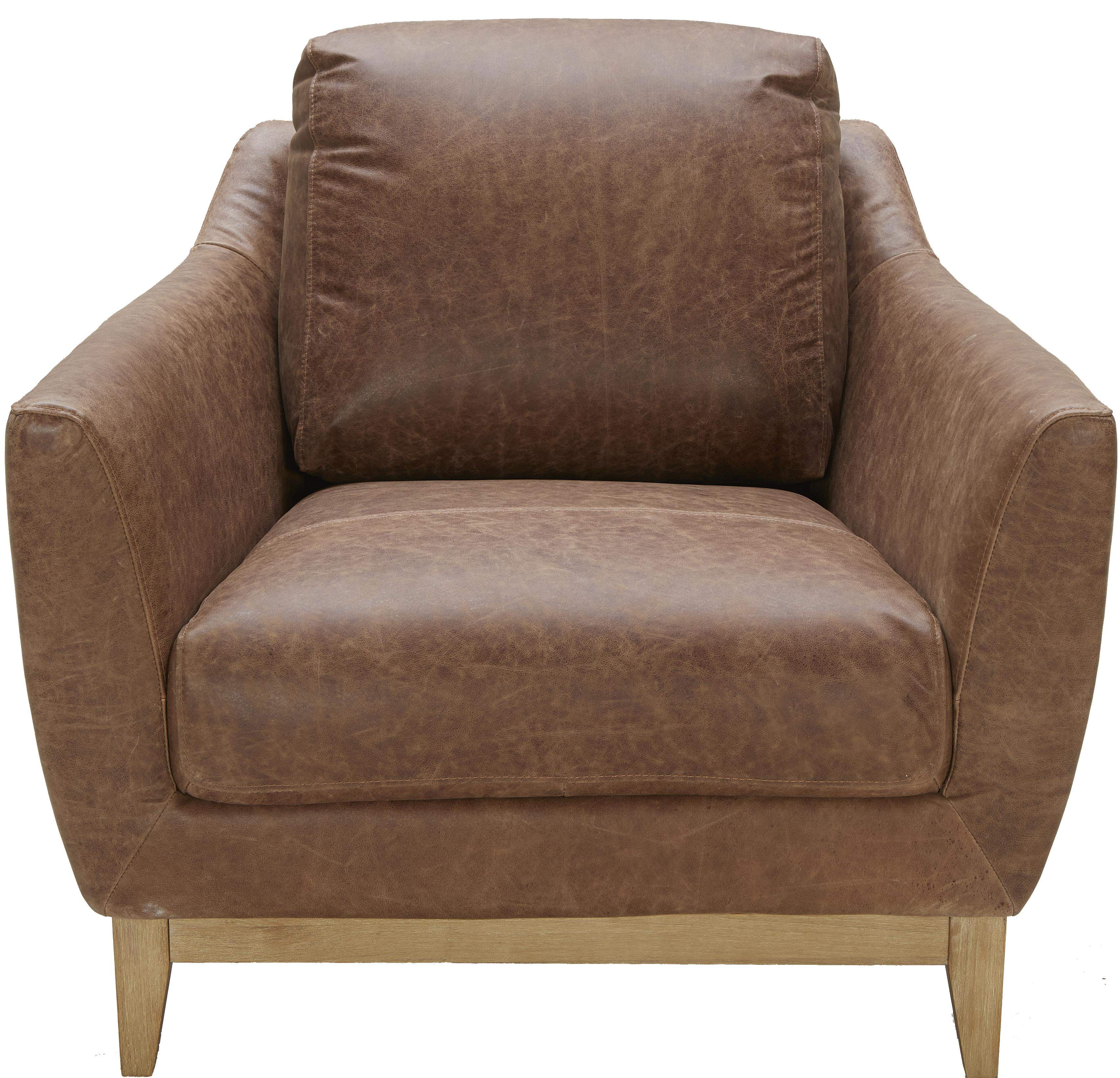 Urban Evolution Baker Modern Leather Chair - Item Number: 5179C-NL9303-G021