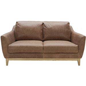 Urban Evolution Baker Modern Leather Loveseat
