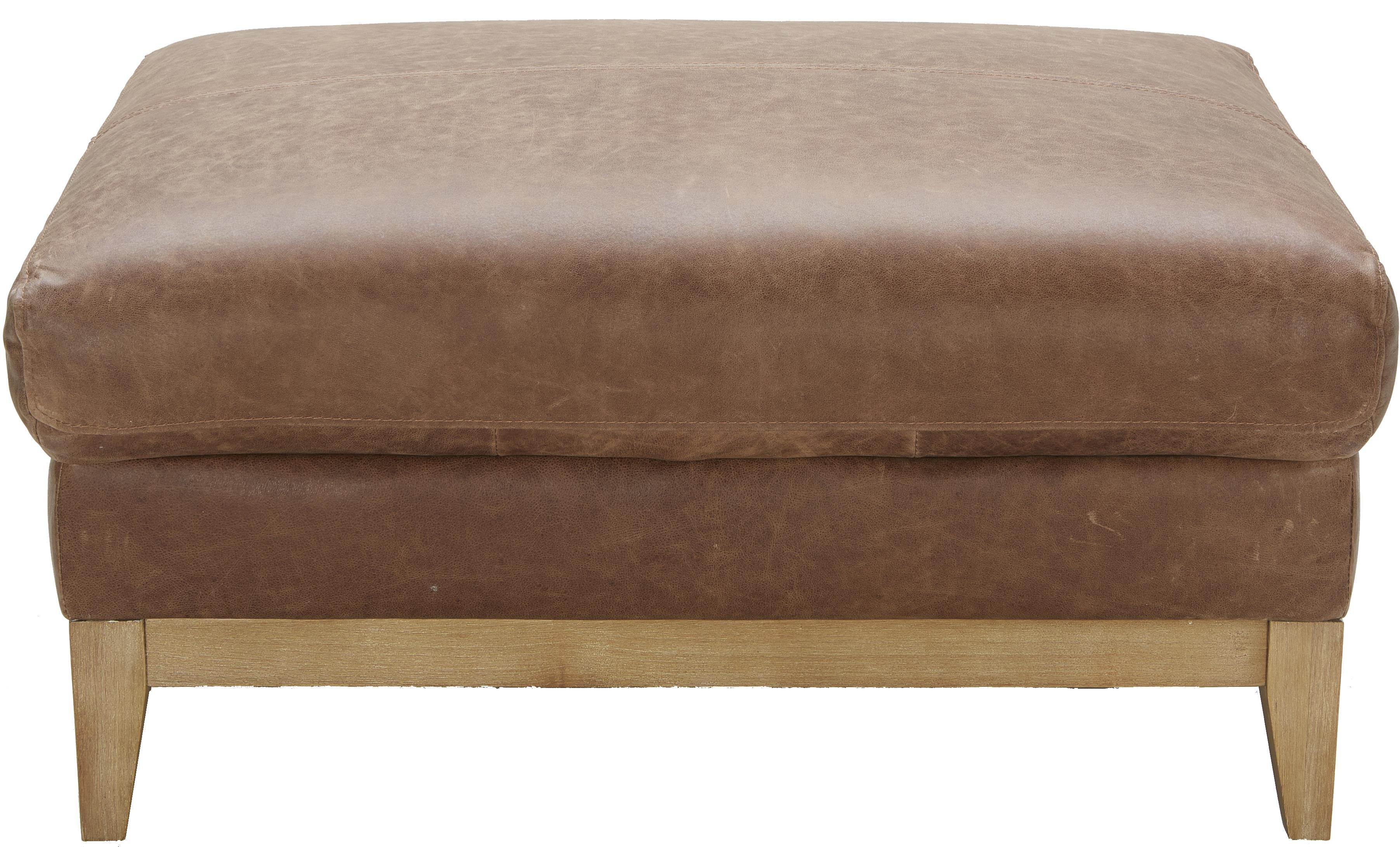 Urban Evolution Baker Modern Leather Ottoman - Item Number: 5179O-NL9303-G021