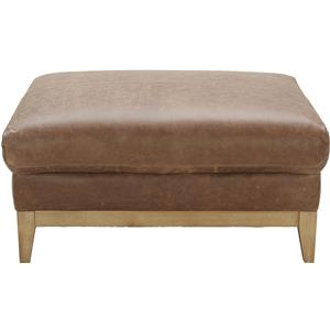 Urban Evolution Baker Modern Leather Ottoman