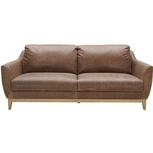 Urban Evolution Baker Modern Leather Sofa