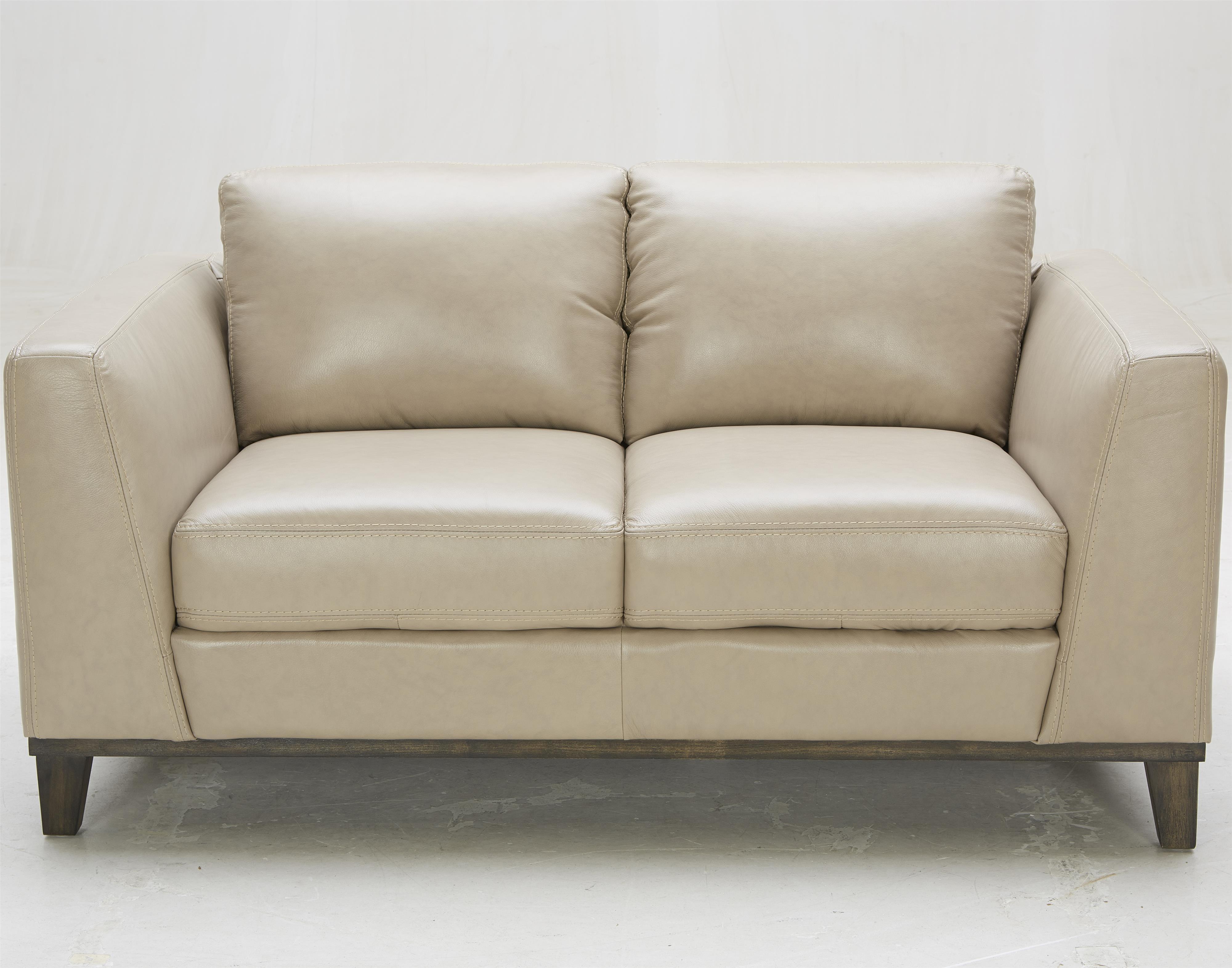 Urban Evolution Corbin Leather Loveseat - Item Number: 1839L-M2826-G030
