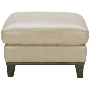 Urban Evolution Corbin Leather Ottoman