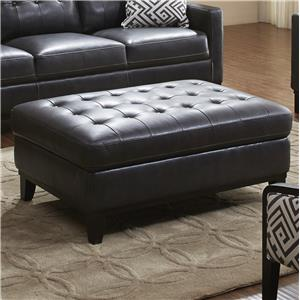 Urban Evolution Devon Leather Ottoman