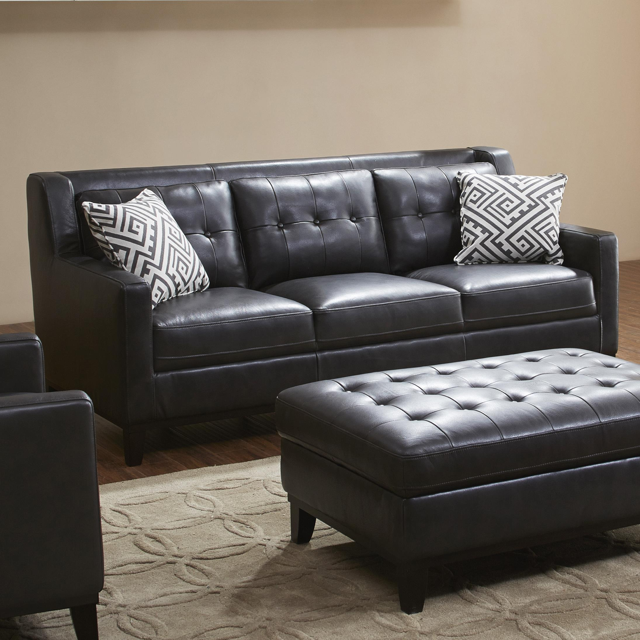 Urban Evolution Devon Leather Sofa - Item Number: 1838BS-M1215-L066