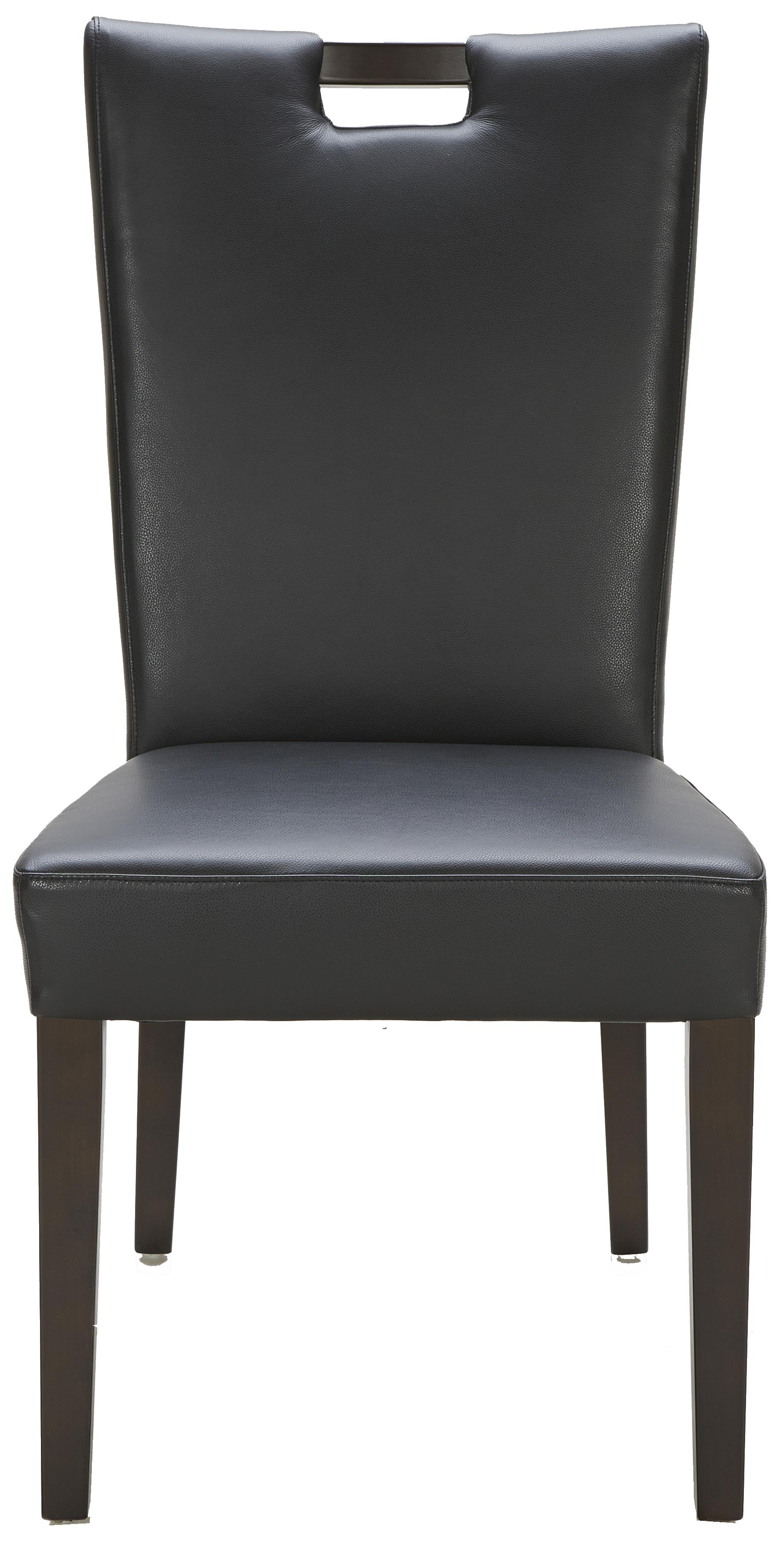 Urban Evolution Urban Dining Chairs Brighton Black Leather Chair - Item Number: Y-787-M5509