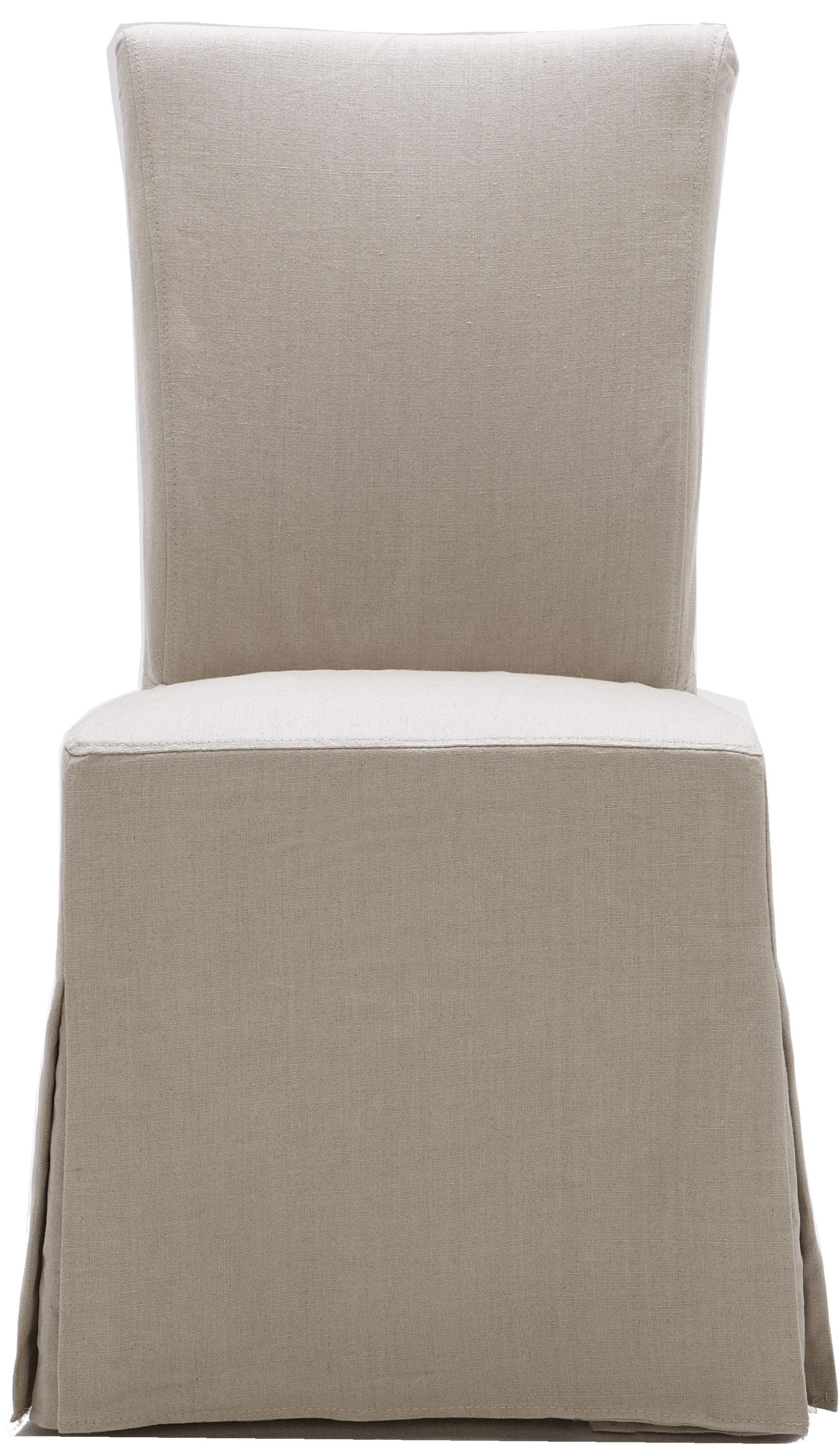 Urban Evolution Urban Dining Chairs Gabi Slipcover Parsons Chair - Item Number: Y-893-C-250