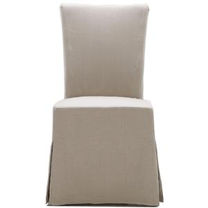 Urban Evolution Urban Dining Chairs Gabi Slipcover Parsons Chair