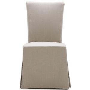 Urban Evolution Urban Dining Chairs Gabi Slipcover Parsons Chair