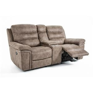 Kuka Home KM008 Power Glide Reclining Console Sofa