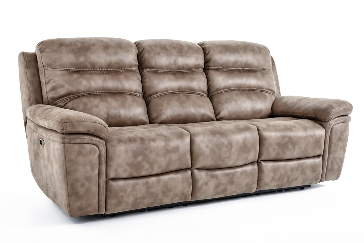 Kuka Home KM008 Power Reclining Sofa - Item Number: KM008-32AE BROWN