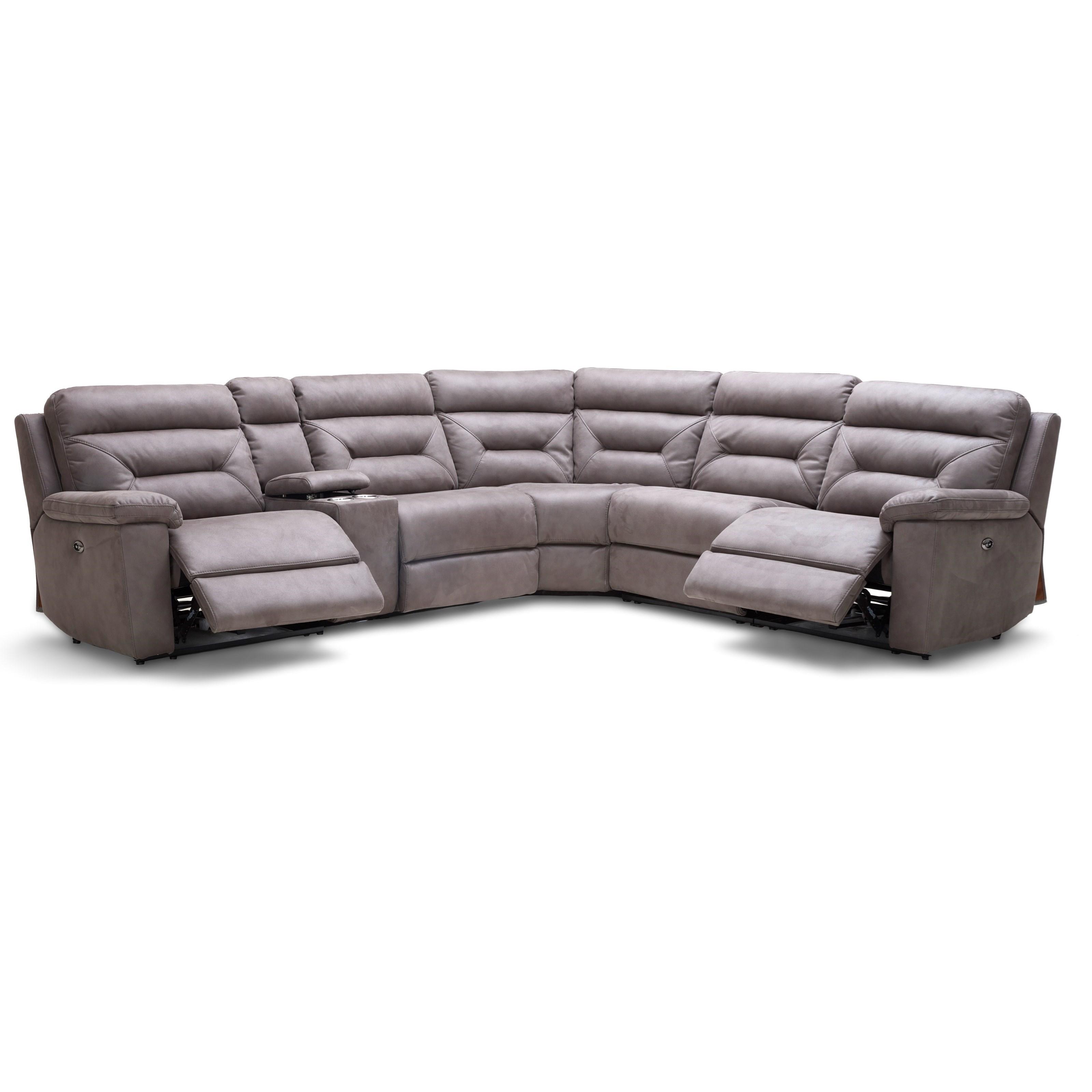 Kuka Home Km012 Six Piece Reclining Sectional Sofa With