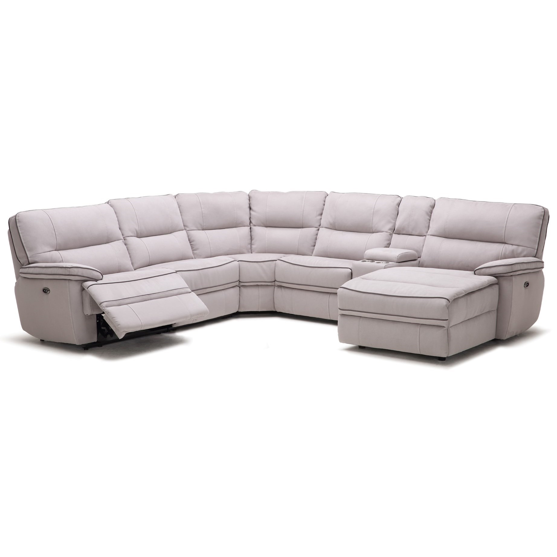 Kuka Home KM019 Six Piece Reclining Sectional Sofa with Cupholder ...