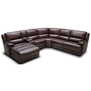 Kuka Home KM028 6 Pc Pwr Reclining Sectional Sofa