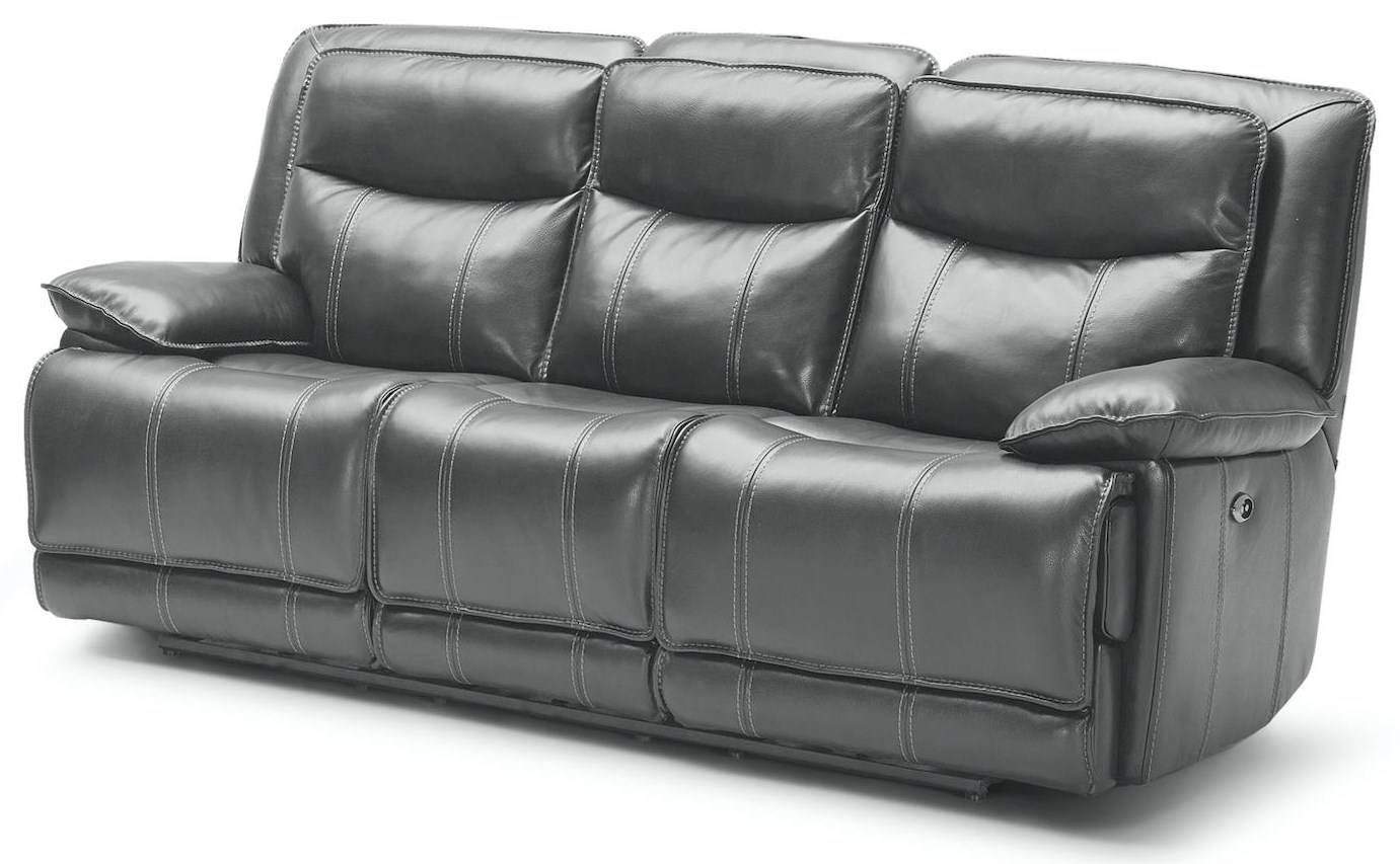 KM030 Power 3 Seat Reclining Sofa by Kuka Home at Beck's Furniture