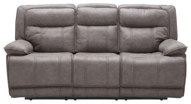 KM030 Reclining Sofa w/ Two Recliners by Kuka Home at Beck's Furniture