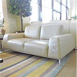Urban Evolution Mantra Leather Loveseat