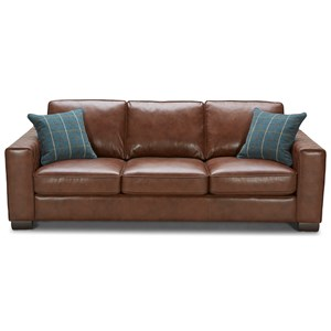 Urban Evolution Mitchell Leather Sofa
