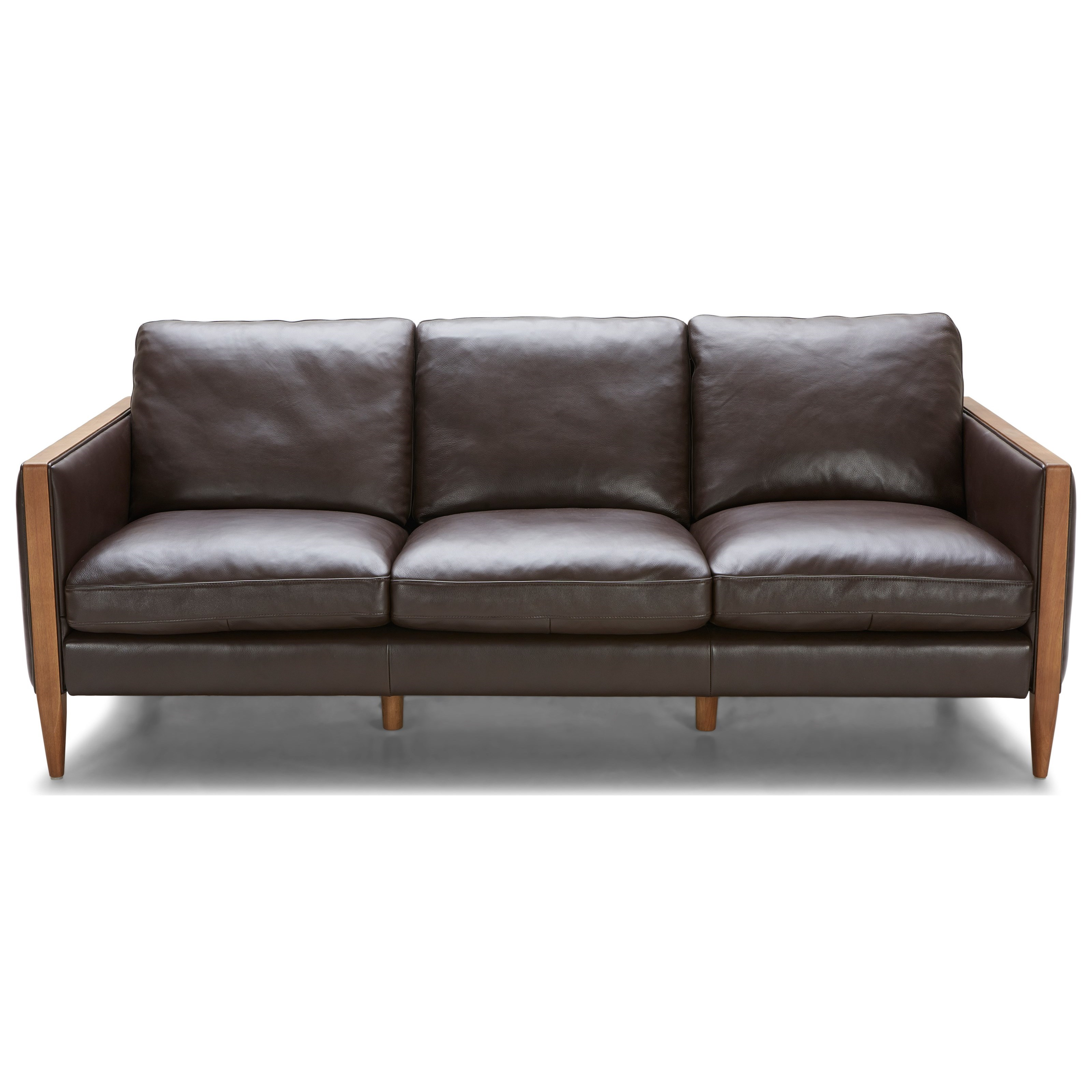 Urban Evolution Murphy Mid Century Modern Leather Sofa with