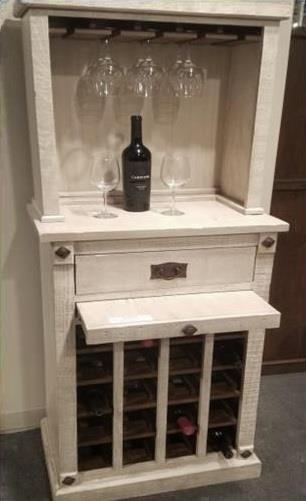 Avino Wine Cabinet with Hutch