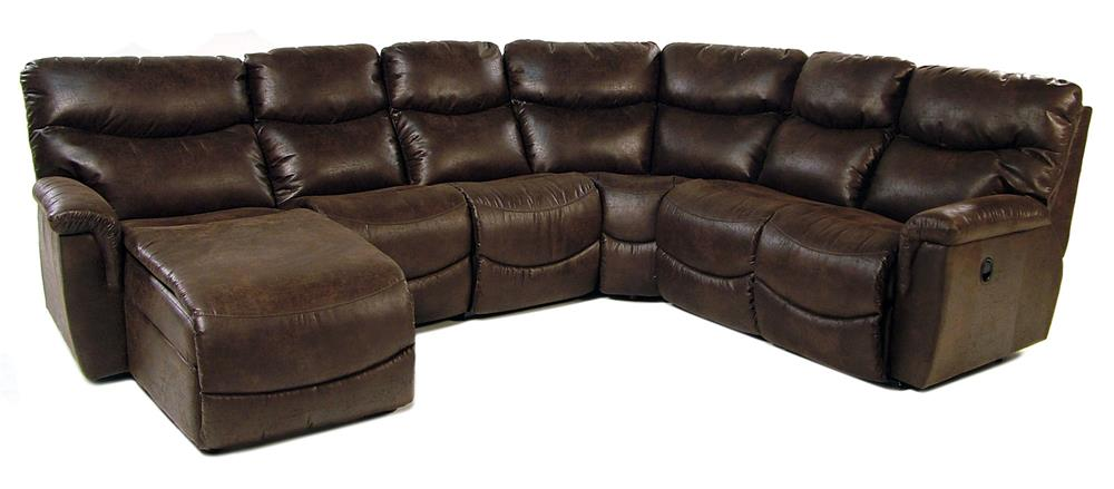 La-Z-Boy Palladin 5PC Reclining Sectional w/ Chaise - Item Number: 40D521+4VV+04M+04C+40S