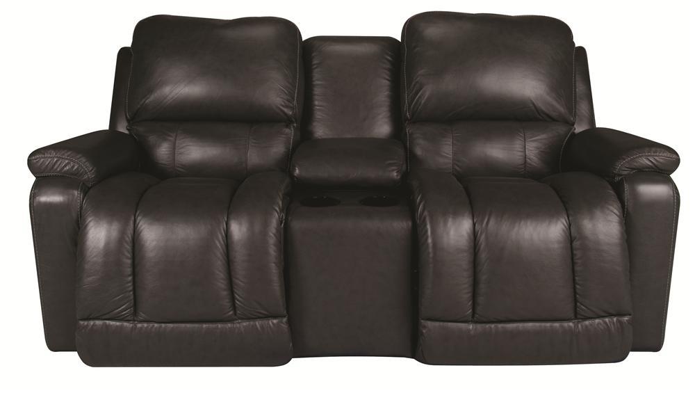 La-Z-Boy Greyson Greyson 100% Leather, PWR Recline Loveseat - Item Number: 106112763
