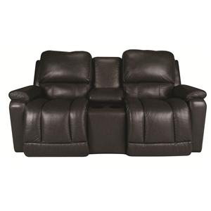 La-Z-Boy Greyson Greyson 100% Leather, PWR Recline Loveseat