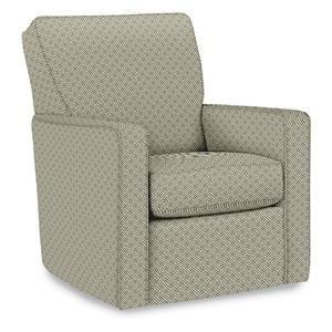 La-Z-Boy Amy Midtown Swivel Chair in Truffle
