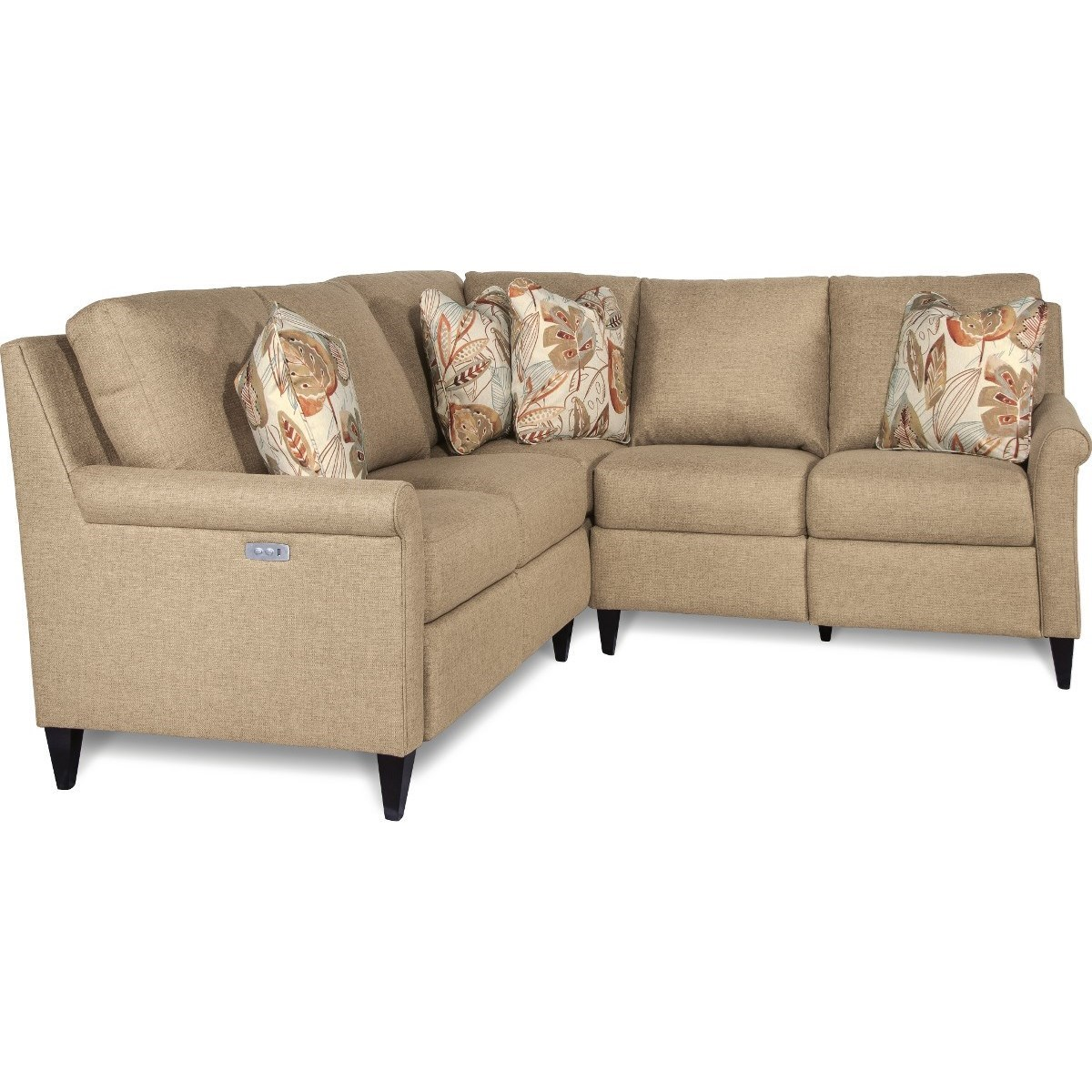 La Z Boy Abby Three Piece Power Reclining Sectional Sofa