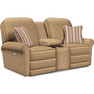 Power La-Z-Time Reclining Loveseat w/Console