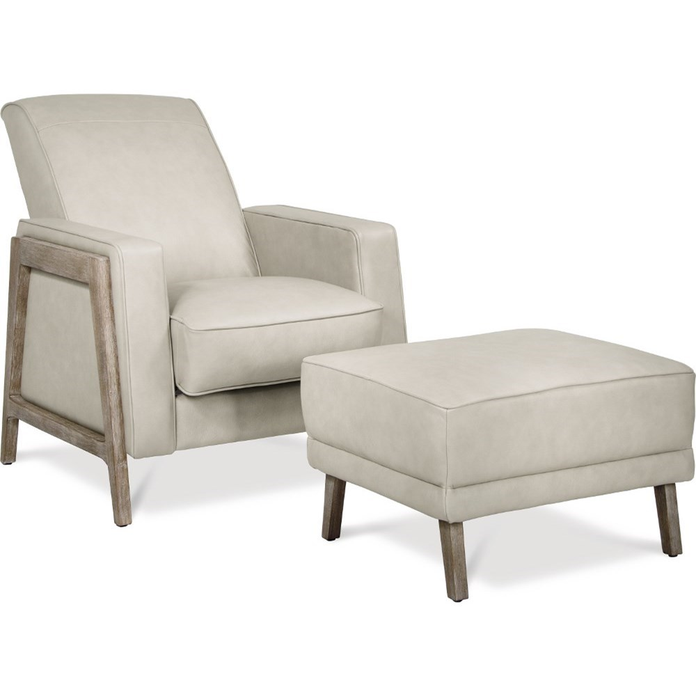 Press-Back Recliner & Ottoman Set
