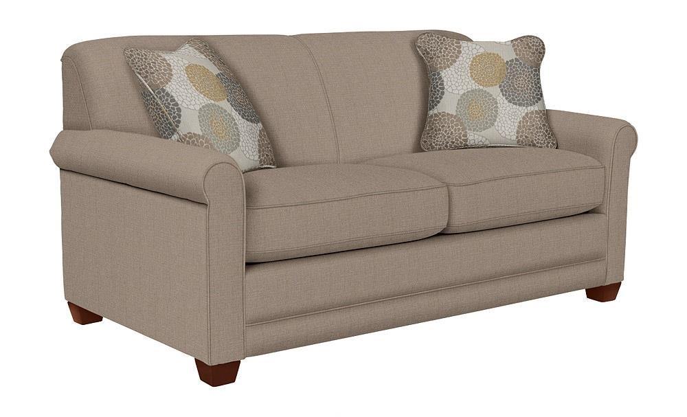 La-Z-Boy Amanda Flannigan Slate Apartment-Size Sofa - Item Number: LAZY-620-600 D142654