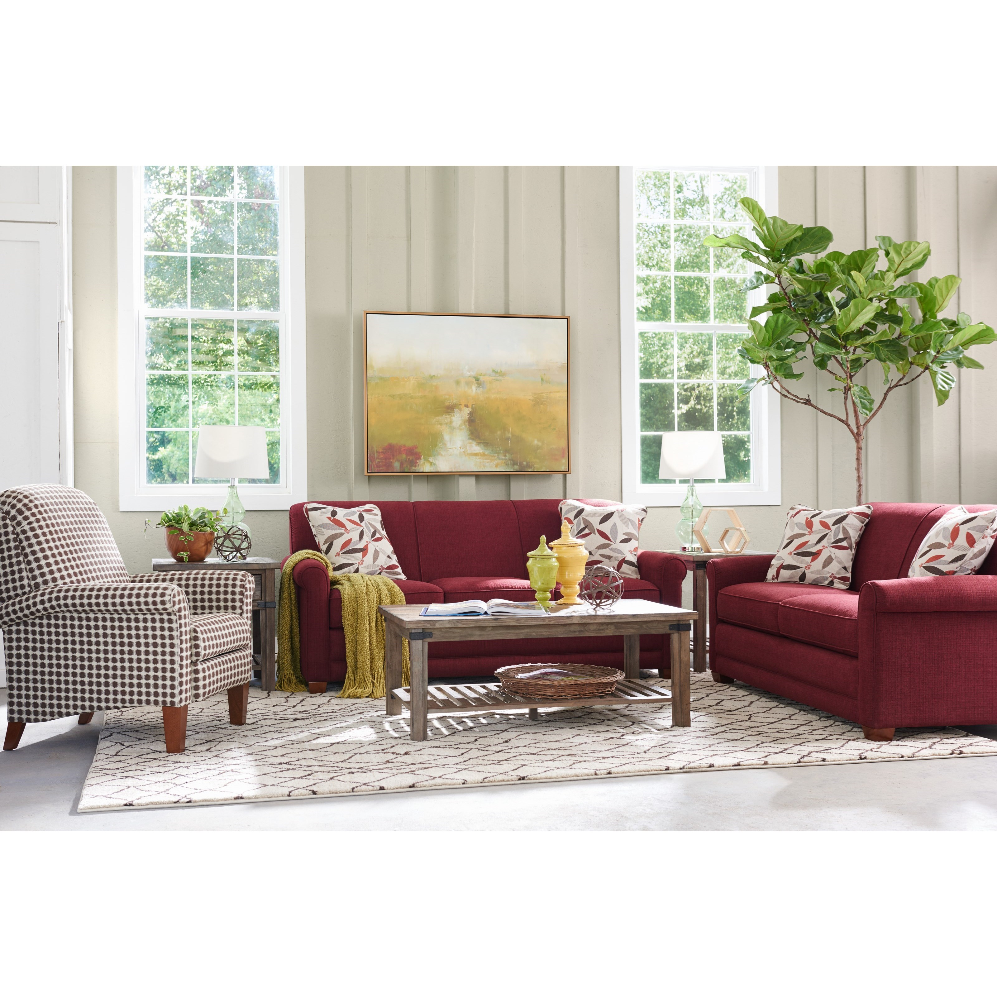 La z boy amanda casual apartment size sofa with premier - Apartment size sectional couch ...