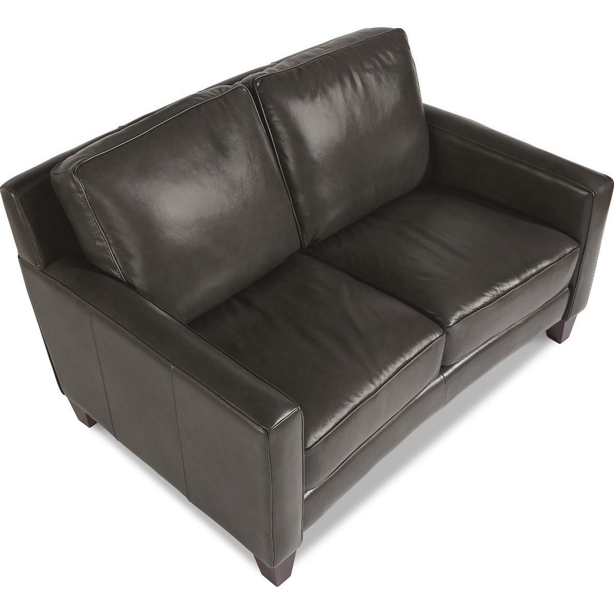 La Z Boy Archer Contemporary Leather Loveseat Bennett S