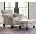 La-Z-Boy Aria Transitional Chair and Ottoman Set - Item Number: 023465+024465E126554