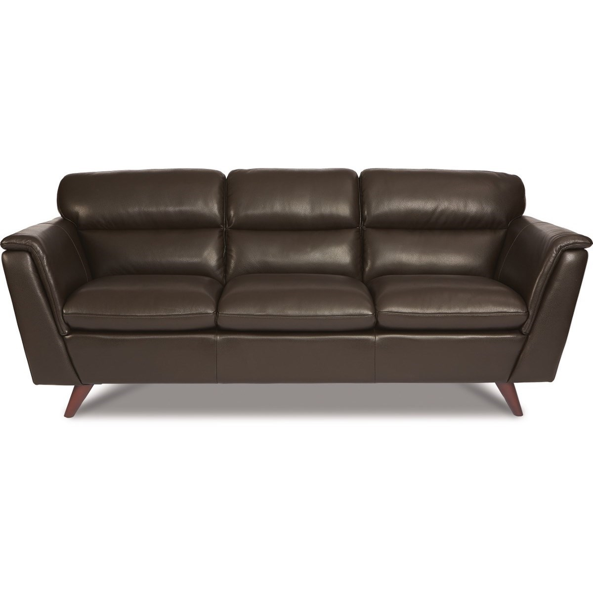 La-Z-Boy Arrow Mid Century Modern Leather Sofa | SuperStore ...
