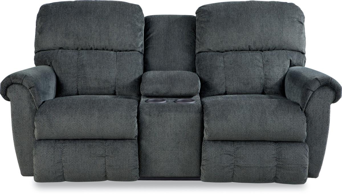 Briggs Dual Recline Console Loveseat by La-Z-Boy at Jordan's Home Furnishings