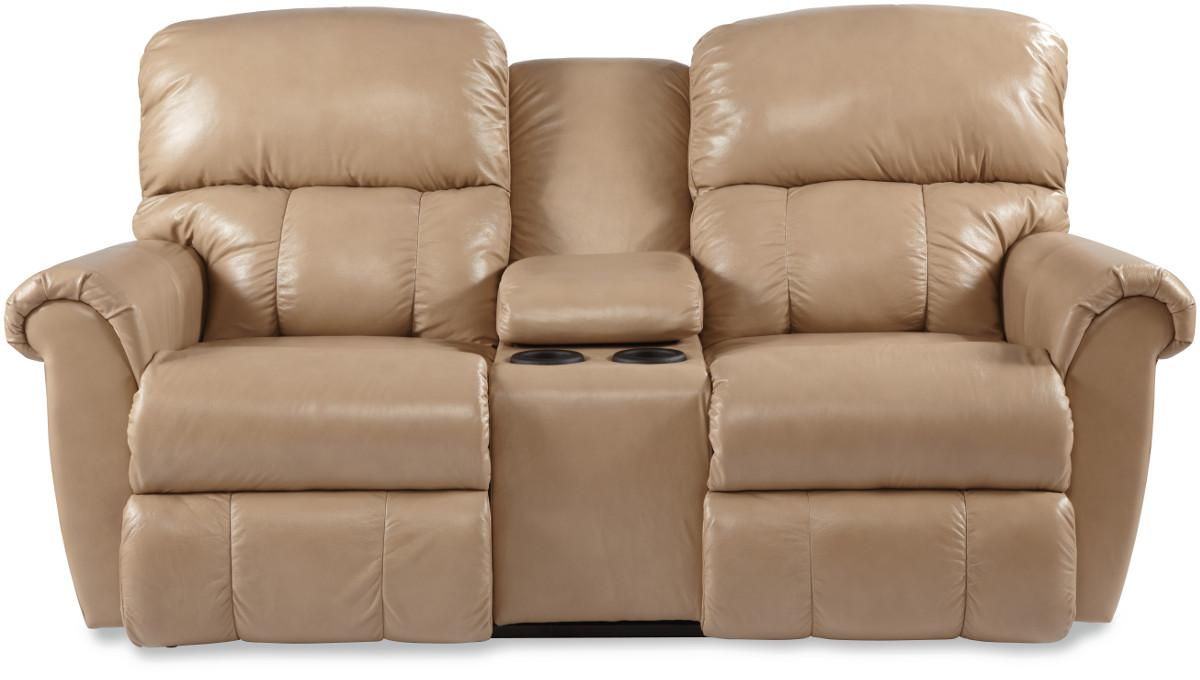 Briggs Dual Recline Console Loveseat by La-Z-Boy at Bennett's Furniture and Mattresses
