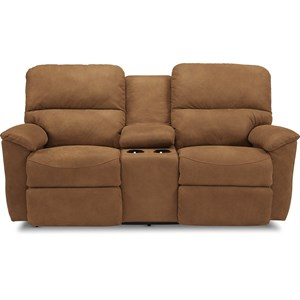 Power Full Reclining Loveseat w/Console