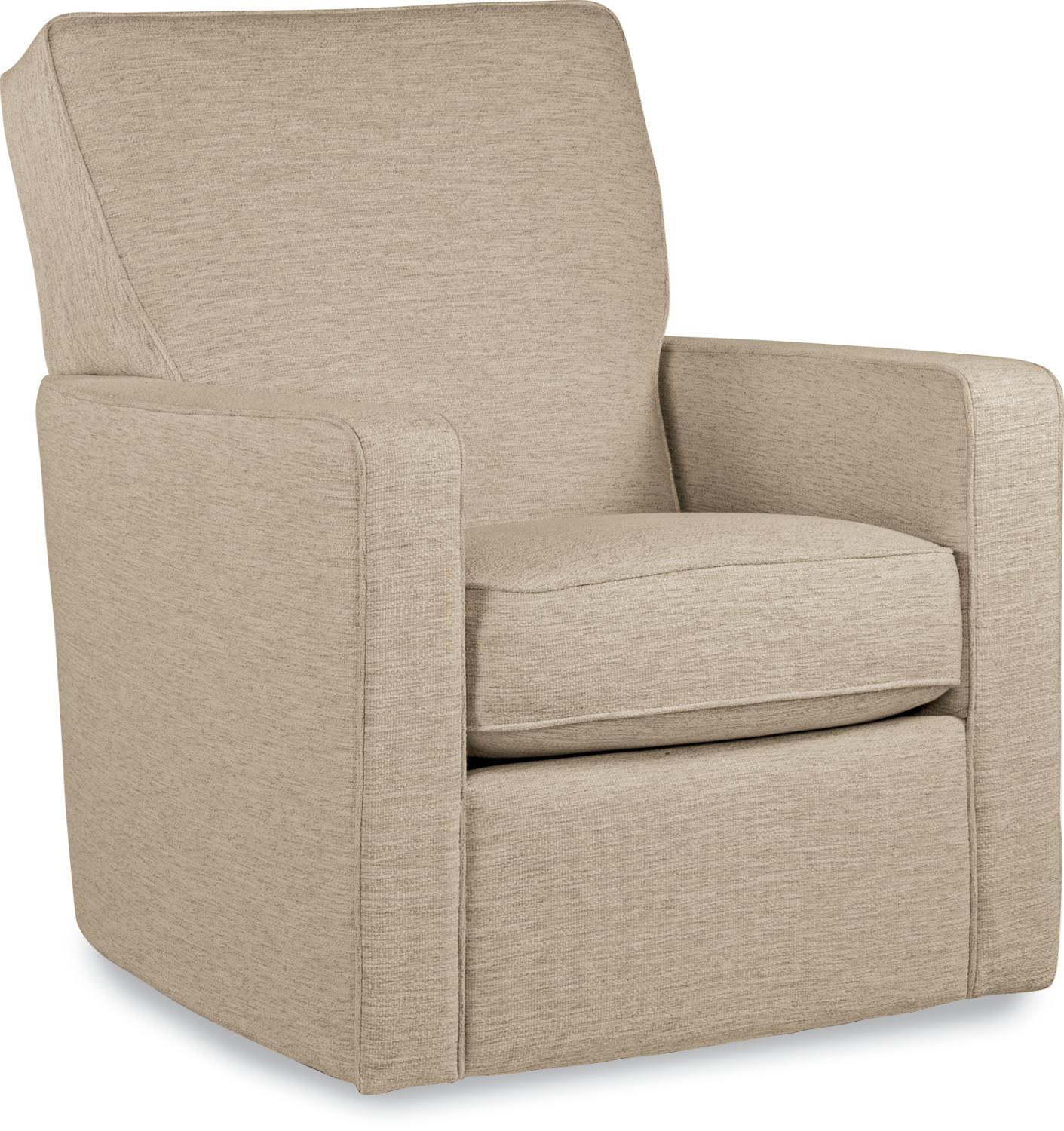 Chairs midtown contemporary swivel glider chair by la z boy wolf