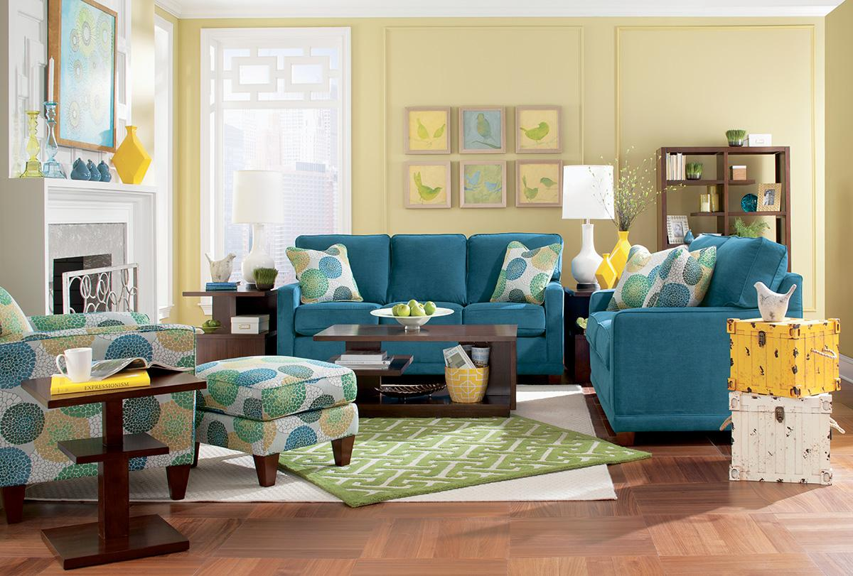 La z boy chairs allegra chair ottoman set knight for La z boy living room set