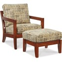 La-Z-Boy Chairs Gridiron Chair and Ottoman - Item Number: 023466+024466J145423